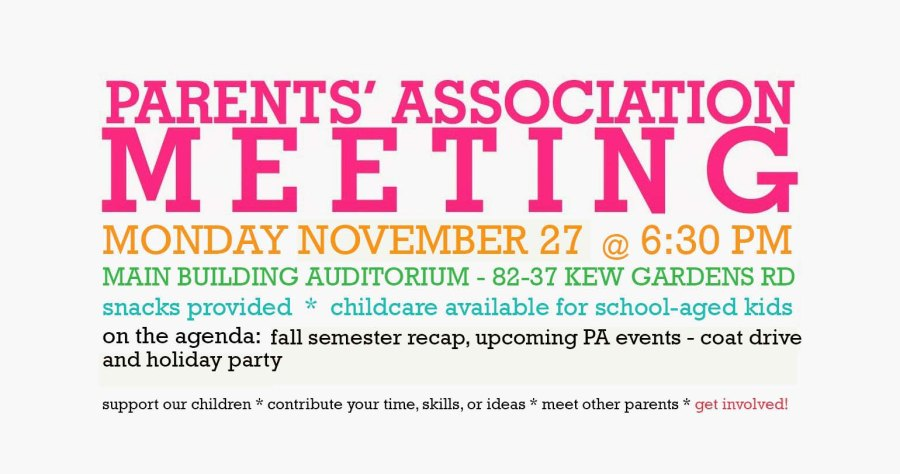 Parents Assn Meeting november